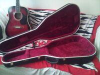 Original Hiscox Hard guitar case with keys.