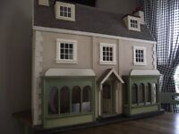 dolls house with shop front