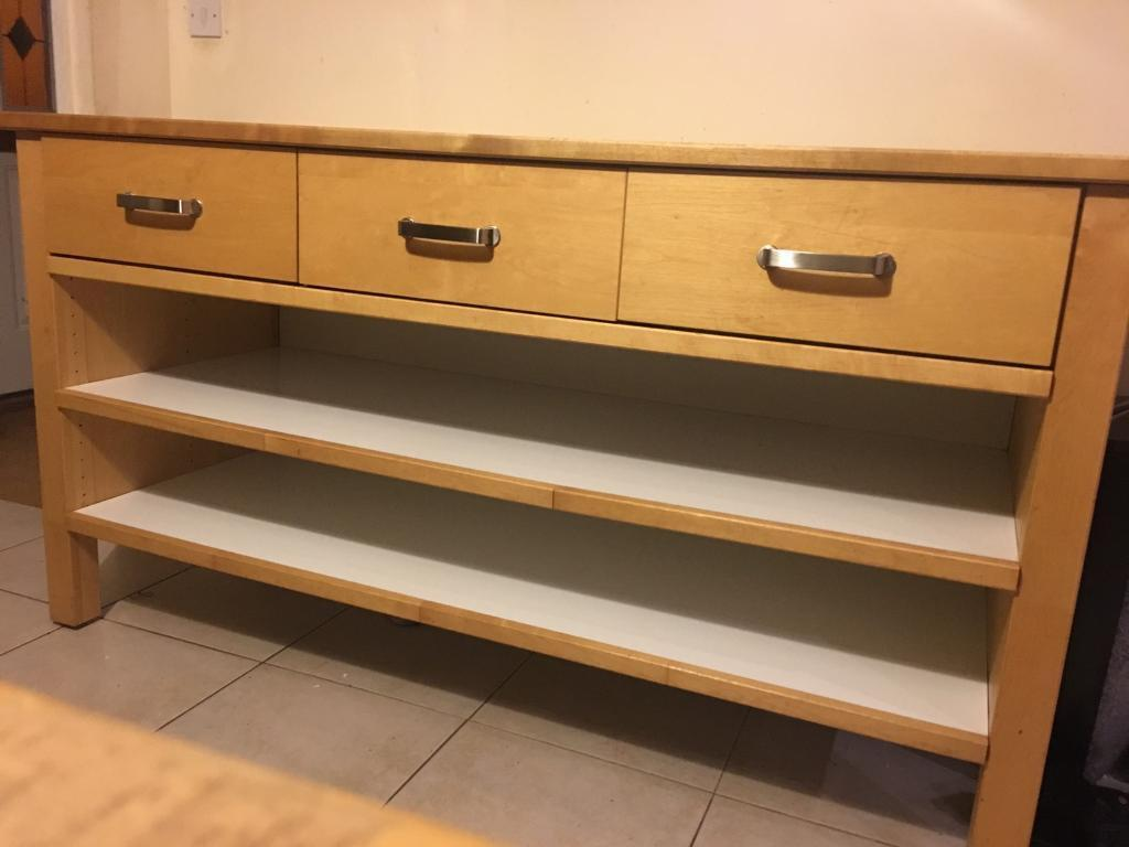 Sold awaiting pick up IKEA Varde kitchen island birch wood butchers block in Colchester, Essex ...