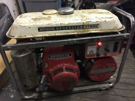 Honda Generator E1500. With built in battery charger