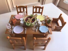 Sylvanian Families Dining table bundle VGC