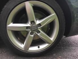 "Audi 18"" alloys Michelin pilot spot 3 tyres"