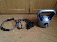 Fitness equipment kettlebell + free cables