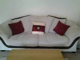 2 x 3 seater sofa's PLUS Footstool