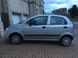 Chevrolet Matiz (0.8) 5 door, silver, 47040 miles, new MOT, well maintained, reliable.