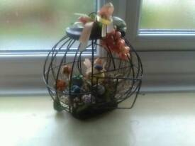 Ornamental bird in cage