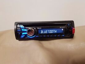 CAR HEAD UNIT SONY XPLOD MP3 CD PLAYER WITH BLUETOOTH USB AUX 4x 52 AMPLIFIER AMP STEREO RADIO BT