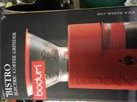 Bodum burr coffee grinder