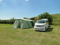 2015 Vango Airbeam Taiga 600xl, large family tent with beds and windbreak