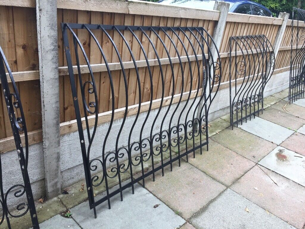 Decorative Iron Black Window Grills/Security Bars - Great quality, no  damage, look great  | in Mossley Hill, Merseyside | Gumtree