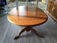 Solid pine extendable dining table and 6 chairs-SOLD