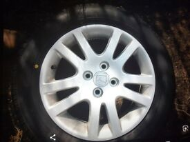 Yokohama tyres honda stud alloys as new £200