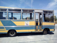 Left hand drive FIAT IVECO OM 55 29 seats bus.