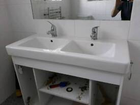 Caramic double sink with tap. Pick up Watford