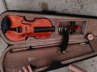 Childs violin and bow with case