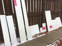 Blizzard Bathroom Wet Wall Boards / Shower panels - White with Silver Sparkles - £10 per item