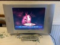 """BUSH 15"""" TV WITH STAND AND REMOTE CONTROL"""