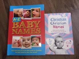 Baby names books x2