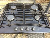 Neff 4 ringed ceramic gas cooker hob with flame failure feature & high speed ring.