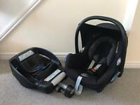 Maxi Cosi CabrioFix Car Seat and EasyFix, Isofix base