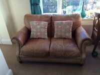 2 seater sofa / settee leather
