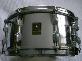 "Premier Dominion Ace COB snare drum 14 x 6 1/2"" - England - Vintage - Modded."