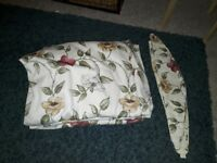 1 pair of curtains and tie backs