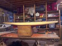 antique pond boat