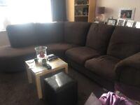 IKEA brown tidaffors corner sofa
