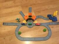 Chuggington track, trains and engine shed