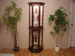 Lovely Walnut Curio Cabinet