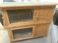 Rabbit hutch two tier in good condition