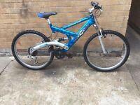 Mens Dual Suspension Barracuda Mountain Bike in GOOD Condition