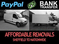 MAN AND WHITE VAN HOUSE FLAT STUDENT REMOVALS IN SHEFFIELD ROTHERHAM FLATPACK GUMTREE IKEA