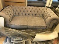 Debenhams 2 Seater Chenille Chesterfield Sofa