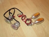 Motorcycle indicator lights