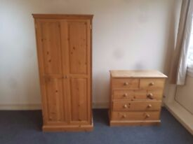 Beautiful set - Wardrobe & Chest of Drawers (delivery available)