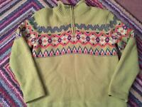 Quiksilver lined jumper size large