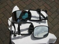 Pair of Large Towing Mirrors suitable for Tow Car or Campervan
