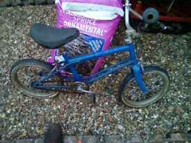 vintage raleigh childs bmx bike