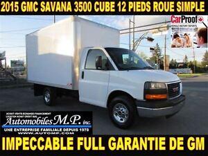 2015 GMC Savana 3500 1 SEUL PROPRIO FULL GARANTIE DE GM