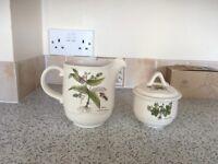 Poole milk jug sugar bowl