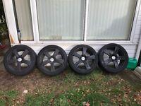 4 18inch Genuine Mercedes alloy wheels (plastidip matte black)