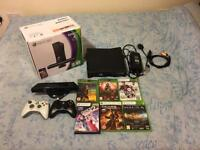 Xbox 360 Kinect Slim 4GB + 6 Games + 2 controllers Used Excellent Condition