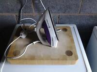 iron and ironing board, free if you have a use for them.