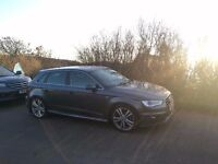 Audi A3 Sportback S-Line. 1.6 TDI 5 dr. Diesel. 35000 miles. Full leather, comfort pack. 2 owners