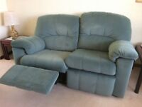 G Plan sofa set - 2 x Two Seaters (inc recliner) + 1 x Recliner armchair plus foot stool