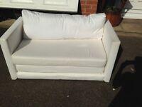 White/Cream Sofa Bed