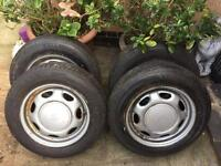 Toyota wheels x4 all with 5+ mm tread