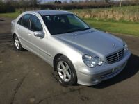 2005 Mercedes C180 Avantgarde automatic FSH 1yrs Mot 6mth warranty
